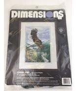 Vintage Dimensions Needlepoint Soaring Spirit Eagle #2435 By Al Agnew 1995 - $37.08