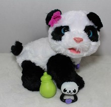 Fur Real Friends Pom Pom My Baby Panda Pet Interactive Plush Hasbro Acce... - $62.14