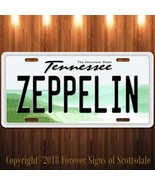 Led Zeppelin Rock And Roll Tennessee Aluminum Vanity License Plate - $12.82