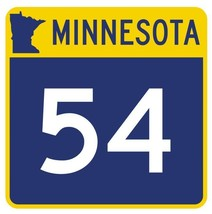 Minnesota State Highway 54 Sticker Decal R4744 Highway Route Sign  - $1.45+