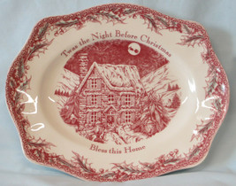 """Johnson Brothers Red Twas the Night 12"""" Platter - $49.39"""