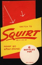 Vintage paper cup SQUIRT 4 1//4oz size dated 1962 unused new old stock n-mint+
