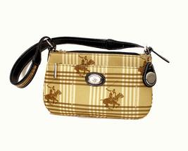 Beverly Hills Polo Club Tan Plaid Shoulder Bag - $41.06 CAD