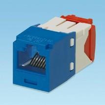 Panduit CJ5E88TGBU CAT5e, RJ45, 8-position, 8-wire universal jack module - $8.86