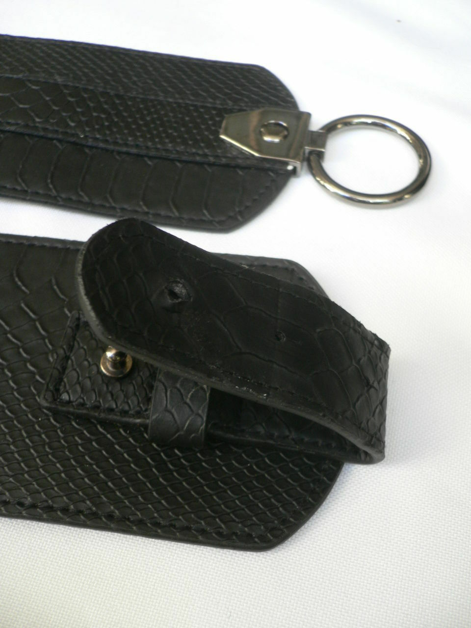 Cintura Donna Fashion Hip Vita Elastico Nero Largo Finta pelle Serpente Timbro image 7