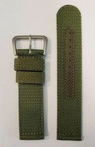 Original SEIKO 22mm SNZG09 / SNZG09J1 Green Nylon Cloth Watch Band Strap... - $28.45