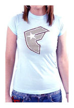 Famous Stars & Straps Womens Sky Blue Weave BOH Juniors T-Shirt New with Tags image 3