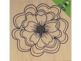 Hero Arts Ruffled Flower Rubber Stamp #S5482