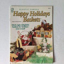 Plastic Canvas Happy Holiday Baskets Michael Wilcox House Of White Birches  - $5.93