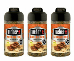 ( Lot 3 ) Weber Grill Seasoning Korean BBQ 5.50 Oz Ea Gluten Free Sealed Packed - $26.72