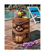 LonoTropical Chieftain Tongue Tiki God Cocktail Table Pool Side Retro Ba... - $177.20