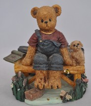Beary Hill Bears - Boy With Bike - Classic Figurine - $13.53