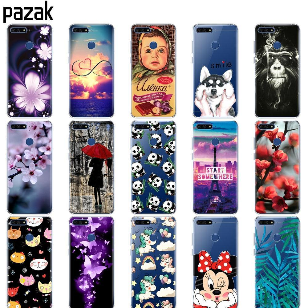 silicone case for Huawei AUM-L29 honor 7a pro 5.7 inch Case Soft TPU Phone Back  - $6.99