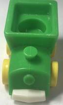 Vintage Little People Fisher Price Green Train Car Yellow Wheels Rare Htf - $8.91