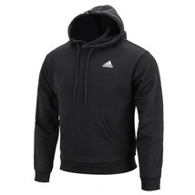 Adidas Must Have 3-Stripes Pullover Hoodie Pocket Long Sleeves Black FI6143 - $65.99
