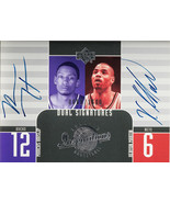 2003 UPPER DECK DUAL SIGNATURES MARCUS HAISLIP AND HENYON MARTIN #135 (MR) - $197.99