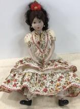 "12"" Porcelain Doll Shelf Sitter PLEASE SEE PICS - $19.75"