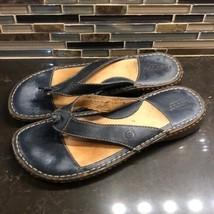 Born black leather sandals - $36.63
