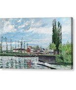 The Lock at Pontoise 1872 Camille Pissarro - Ready to Hang - $91.63+