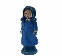 Cast Iron figure vtg toy Amish Mennonite church Jakob Ammann gift ww2 girl Mom - $19.19