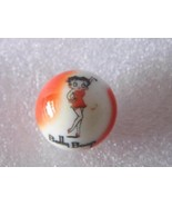 vintage Guernsey Glass BETTY BOOP comic strip character MARBLE red white... - $11.99