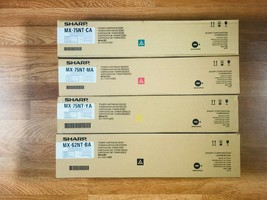 Sharp MX-75NT CMY MX-62NT K Toner Cartridge Set For MX-6500N 7090N FedEx... - $415.80