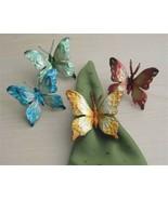 Kubla Capiz Butterfly Napkin Rings. 8 piece set!!!  - $29.95