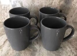 Royal Norfolk Gray Stoneware Coffee Mugs Dinnerware Cups Set Of 4-RARE-SHIP 24HR - $24.63