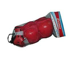 PANDA SUPERSTORE Sport Safety Wear for Kids Red Elbow, Knee & Palm Gear, Cycling
