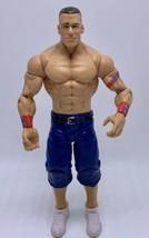 WWE Wrestling Action Figure John Cena 2010 Red Wrist Bands - $12.99