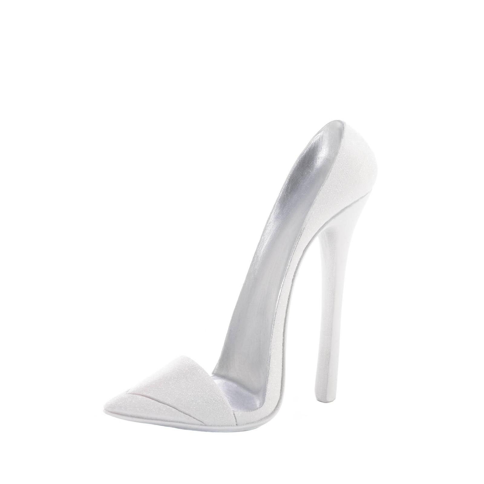 DAZZLING WHITE SHOE PHONE HOLDER Chic High Heel Mobile Cell Stand Gift