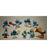 Vtg Smurfs Smurfette Miniature Figure Figurine PVC Lot Superman lot 9 - $24.99