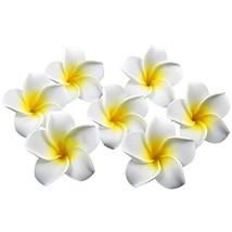 Happy Will 100 Pcs Hawaiian Foam Artificial Plumeria Rubra Hawaiian Flow... - $11.19