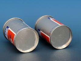 Vintage Novelty Salt & Pepper Shaker Set Hong Hong Metal EVEREADY Batteries image 4