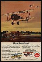 Sopwith Camel Flys Dawn Patrol Gas Engine Cox Replica 1972 Print Ad - $14.99