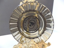 RARE VTG CIGARETE ASHTRAY FRONTIER HOTEL CASINO SMOKED GLASS LAS VEGAS 1... - $3.80