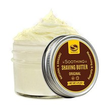 4 fl. Oz Organic Shaving Butter Cream, Made with Moisturizing Shea Butter and So image 1