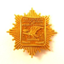 Vintage 1/10 10K Gf The American Association Of Retired Persons Brooch P... - $42.56