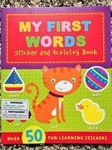 My First Words ~ Sticker & Activity Book (Over 50 Stickers!) [Staple Bound]