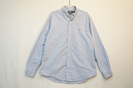 Polo Ralph Lauren Classic Blue Midweight Button-Front Shirt, Men's Large... - $12.81