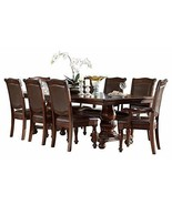 Licona Traditional 9PC Dining Set Double Pedestal Table, 2 Arm Chair, 6 ... - $2,270.19