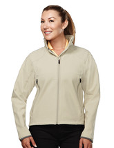 Tri-Mountain Ascent 6420 Poly Stretch Bonded Soft Shell Jacket - Putty/D... - $48.65+