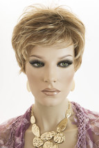 Golden Blonde w/ Pale Golden Blonde Bold Highlight Blonde Short Jon Renau Wigs - $107.71
