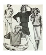 Misses Sport Tops Stretch & Sew 368 Vintage Pattern 1988 Bust Size 30-46... - $9.99