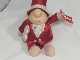Vintage ZIGGY Doll Plush Toy I Love You Valentines Tuxedo Tophat  - $9.49