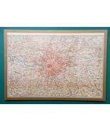"1897 MAP Baedeker - London & Environs England 10.5 x 15"" (26.5 x 38 cm) - $27.00"