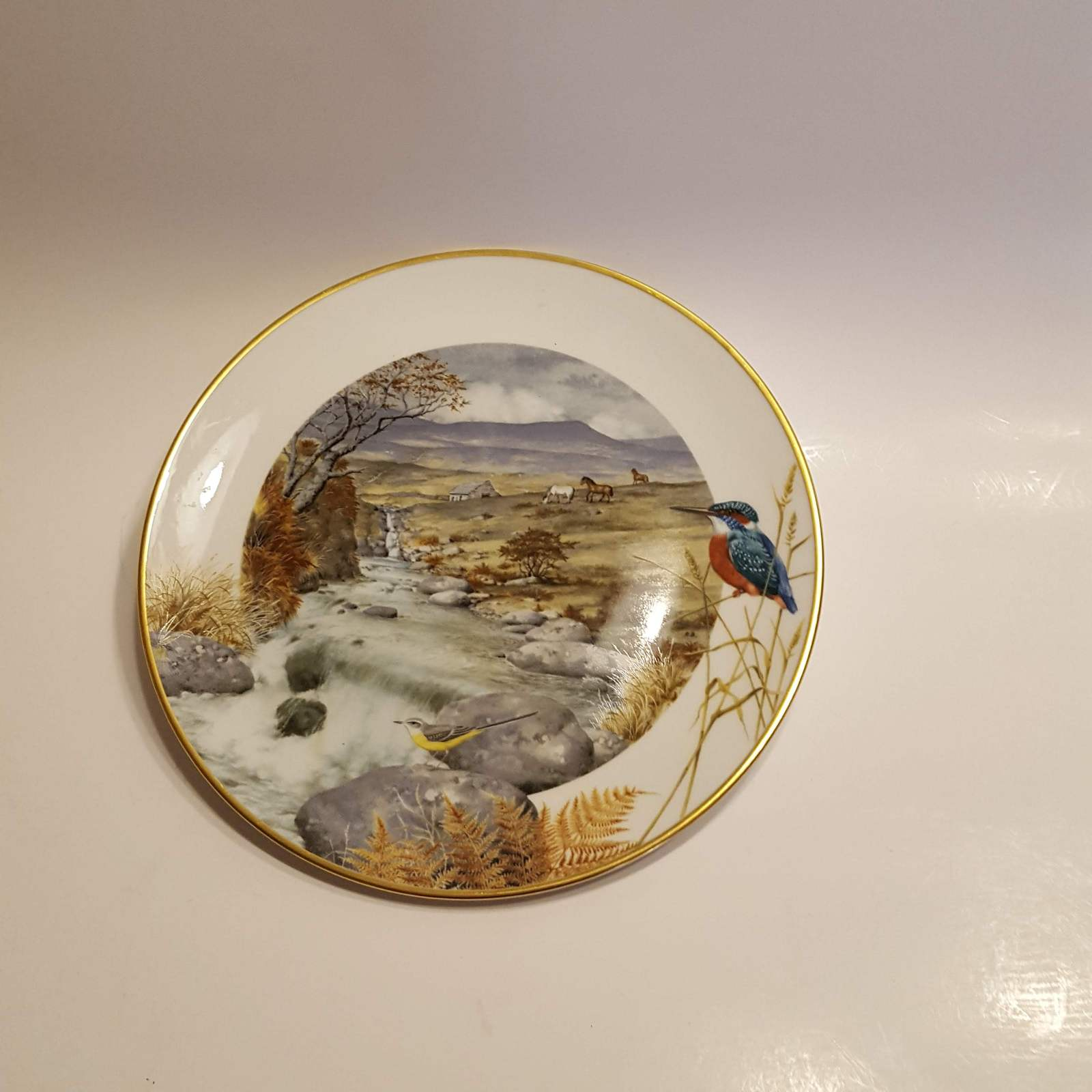Primary image for Franklin Porcelain Plate A secluded stream in November @1979 by Peter Banett