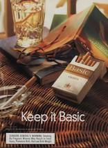 1999 Basic Lights Cigarettes Vintage Magazine Ad Page Tobacco Advertising - $4.47