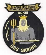 US Navy AO-25 USS Sabine Cimarron-Class Fleet Replenishment Oiler Patch - $11.87