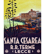 """20x30""""Poster on Canvas.Home Room Interior design.Travel Italy. Cesarea.6502 - $60.78"""